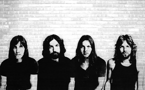 Picture wall, Pink Floyd, stencil, cult group