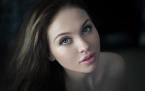 Picture eyes, girl, face, photo, model, brunette, lips