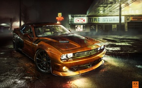 Wallpaper Challenger, tuning, photoshop, Dodge