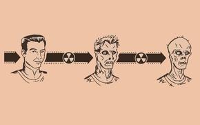 Wallpaper radiation, zombies, evolution, mutation
