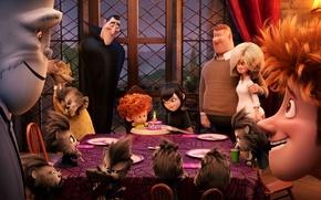Picture Frankenstein, Dracula, Wayne, Mavis, Hotel Transylvania 2, Jonathan, Transylvania 2