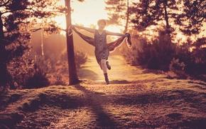 Wallpaper Collette, joy, running, girl