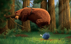 Picture Bear, Hunting Season, A porcupine