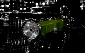 Picture retro, Bentley, headlight, grille