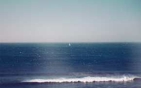 Picture waves, sea, ocean, wind, sunny, sail