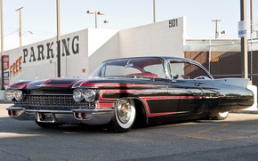 Picture retro, Cadillac, 1960, Parking, the front