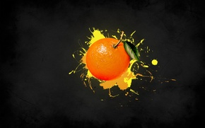 Picture yellow, strip, paint, Orange, fruit