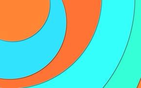 Picture material, circles, geometry, design, blue, orange