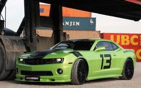 Picture Chevrolet, Camaro, Green, Super, Sport, GeigerCars, 564