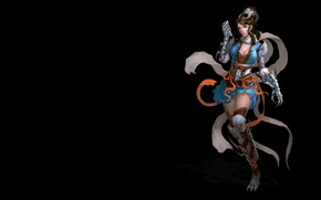 Picture girl, the game, art, costume, character