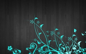 Picture flowers, green, background, pattern, texture