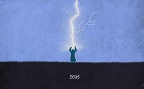 Picture lightning, valve, zeus, dota 2, god, sheron1030, minimalsim, wrath