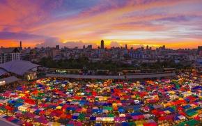 Picture Thailand, night market, Ratchada, Bangkok
