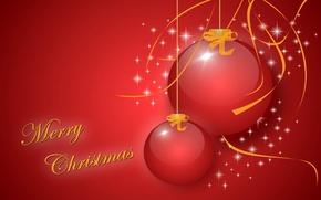 Picture balls, Christmas, vector, postcard, decoration