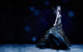Picture snow, dress, Taylor Swift, Taylor Swift, Cosmopolitan
