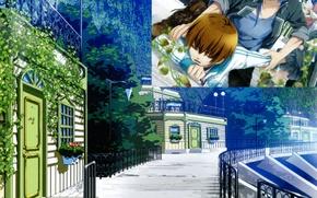 Picture summer, home, plants, fence, track, guys, art, teita language, akito syukuri, kakeru yui with, NORN9, …