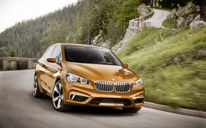 Picture movement, track, BMW, Active, Tourer, 2013, Outdoor