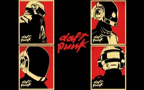 Wallpaper poster, Daft Punk, music, music, poster