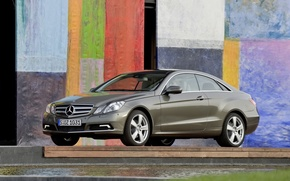 Picture wall, colored, mercedes-benz, coupe, e350