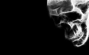 Picture void, darkness, skull, Death, horror