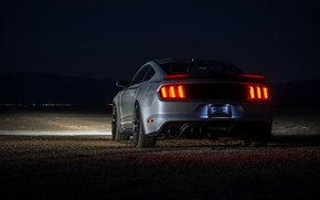 Wallpaper RTR, Ford Mustang, rear view, twilight, 2017, Style