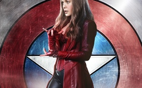Picture Scarlet Witch, Elizabeth Olsen, Wanda Maximoff, Captain America: Civil War, The first avenger: the Confrontation