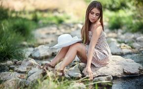 Picture girl, nature, pose, Marta Segovia