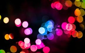 Picture light, night, lights, garland