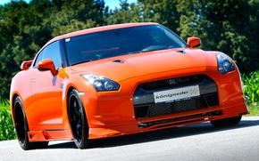 Picture orange, Nissan, GT-R, Nissan, orange, the front part, Koenig Eder