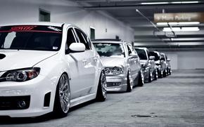 Picture garage, Parking, lexus, subaru, toyota, impreza, Lexus, Subaru, Toyota, sti, Impreza