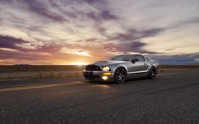 Picture sunset, Mustang, Ford, ford mustang, muscle car, rechange