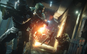 Picture the explosion, weapons, special forces, Rainbow six: Siege