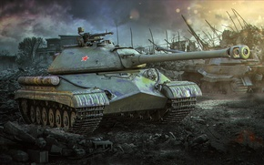Picture World of tanks, Is-8, T-10, Object 730, Is-5