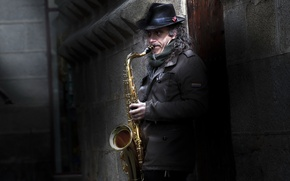 Picture music, people, saxophone
