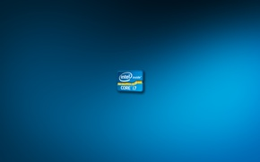 Picture blue, background, blue, Wallpaper, color, logo, logo, intel, blue, background, processor, Intel, core i7, cpu