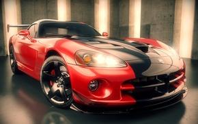Picture supercar, render, Dodge Viper, dodge viper