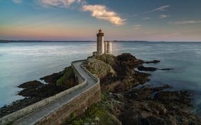 Picture sea, landscape, lighthouse