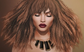 Wallpaper hair, face, lips, background, girl, curls