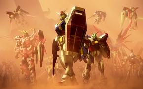 Picture fiction, robot, anime, shield, mobile suit gundam