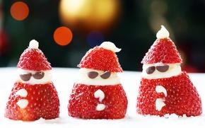 Picture Food, Santa Snacks, strawberry santa