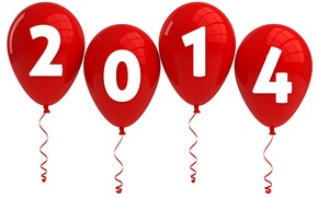 Picture background, figures, new year, 2014, red balls
