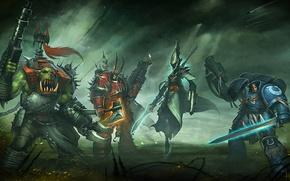 Picture Warhammer 40000, chaos, space marine, Warhammer 40k, eldar, space Marines, orc, Eternal Crusade, Long War, …