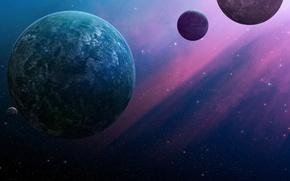 Picture planet, Stars, the dark background, JoeJazz