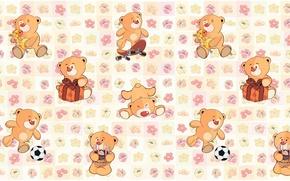 Picture background, art, bear, children's