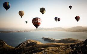 Picture the sky, landscape, balls, sport, Bay