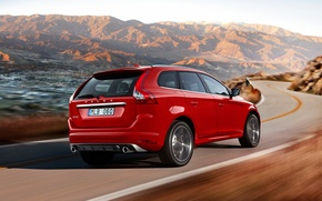 Picture Red, Volvo, Volvo, Back, XC60