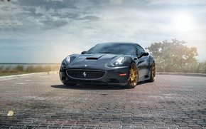 Picture Ferrari, California, Wheels, Strasse
