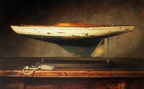 Picture model, figure, picture, yacht, boat, reproduction, Kyle, Polzin