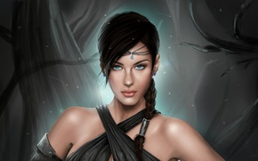 Picture girl, portrait, art, fantasy