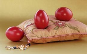 Wallpaper eggs, Easter, pillow